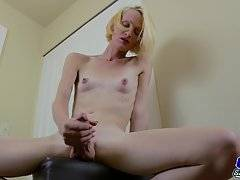 Brooke Zanell Strokes Her Huge Dick