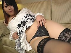 Ultra feminine with a perfect rack, an ass you just wanna reach out and squeeze and a delicious portion of hard shogun fun in her panties make this little firecracker a true fans` favourite here on SMJ.