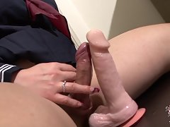 Runa Loves To Fuck Her Dildo!