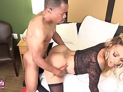 Sexy Amanda Coxxs is a hot black tgirl with an amazing body, nice tits, a hard cock and a sexy bubble butt! In this hot hardcore she gets a sexy blowjob from her man before she lets him fuck her horny ass!